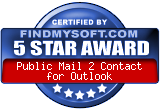 Share Outlook without Exchange: Public ShareFolder award